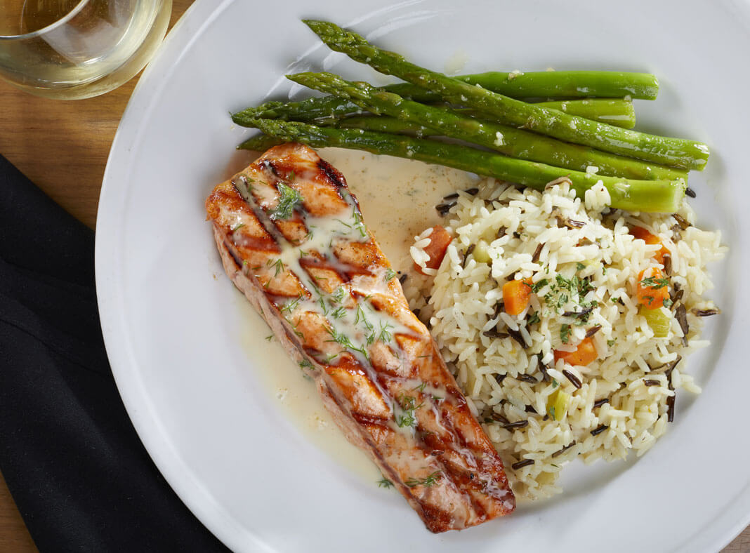 Gluten Free Salmon with Asparagus and Rice